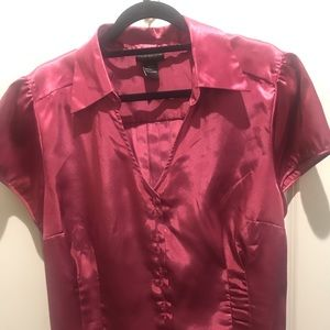 Lane Bryant 18/20 Pink Silky Blouse